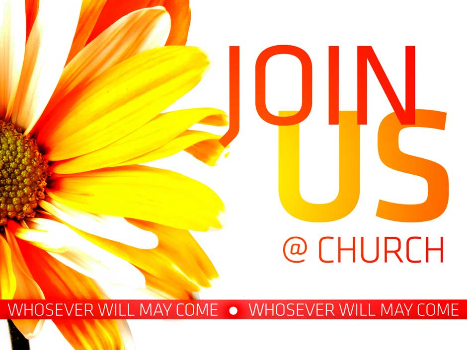 join us at church