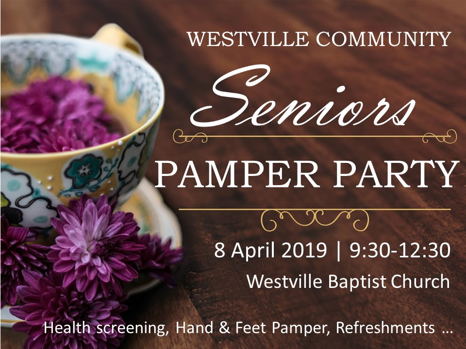 Seniors Pamper Party