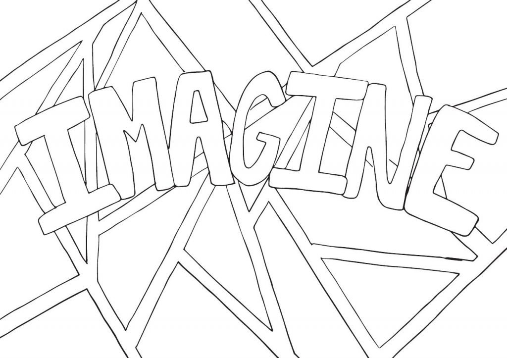Imagine Coloring Page